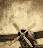 Vecchio biplano Fotografia Stock Libera da Diritti