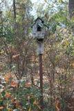 Vecchio birdhouse Fotografia Stock Libera da Diritti