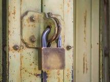 Vecchio bloccato chiave Immagini Stock