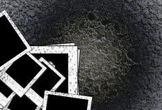 Vecchio blocco per grafici in bianco della foto sulla priorità bassa del grunge Immagini Stock