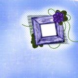 Vecchio blocco per grafici con il fiore ed i fogli del tessuto Fotografie Stock