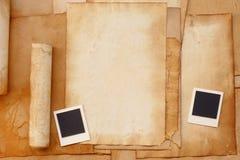 Vecchio blocco per grafici della foto e del documento Fotografie Stock