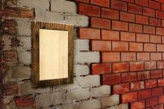 Vecchio blocco per grafici della foto sulla parete Fotografie Stock Libere da Diritti