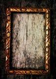 Vecchio blocco per grafici di legno dorato Immagini Stock