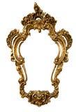 Vecchio blocco per grafici dorato di uno specchio fotografia stock libera da diritti