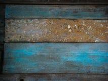 Vecchio blu di legno e Brown Fotografia Stock Libera da Diritti