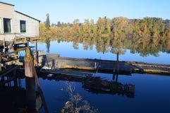Vecchio boathouse immagini stock libere da diritti