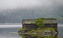 Vecchio boathouse Fotografia Stock Libera da Diritti