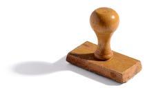 Vecchio bollo di legno della mano dell'ufficio Fotografie Stock
