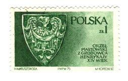 Vecchio bollo polacco con l'aquila Fotografia Stock Libera da Diritti
