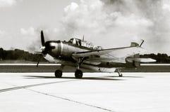 Vecchio bombardiere del blu marino Immagini Stock