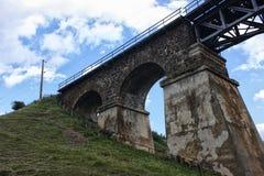 Vecchio bordo del ponte Immagini Stock Libere da Diritti
