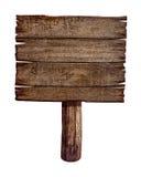 Vecchio bordo o posta di legno del segno Immagini Stock