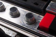 Vecchio bottone del volume Fotografia Stock Libera da Diritti