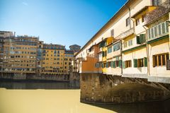 Vecchio bridge florence tuscany italy Royalty Free Stock Photos