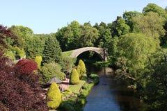 Vecchio Brig O'Doon, Alloway, ayrshire, Scozia Fotografia Stock Libera da Diritti