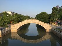 Vecchio brigde cinese Immagine Stock