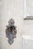 Vecchio buco della serratura del portello Fotografia Stock