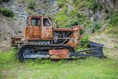 Vecchio bulldozer arrugginito Fotografie Stock Libere da Diritti