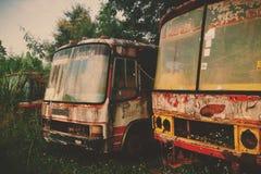 Vecchio bus Fotografia Stock Libera da Diritti