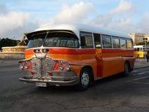 Vecchio bus di Malta Fotografie Stock