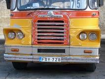 Vecchio bus di Malta Fotografia Stock