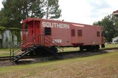 Vecchio caboose della ferrovia Fotografia Stock