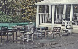 Vecchio caffè Fotografie Stock Libere da Diritti