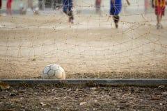 Vecchio calcio nello scopo Immagine Stock Libera da Diritti