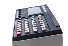 Vecchio calcolatore su fondo bianco immagine stock