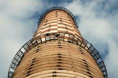 Vecchio camino della fabbrica Fotografie Stock
