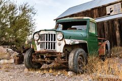 Vecchio camion arrugginito nella città di Nelson Ghost, U.S.A. Fotografia Stock Libera da Diritti