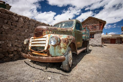 Vecchio camion arrugginito, Uyuni, Bolivia Immagini Stock Libere da Diritti