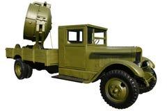 Vecchio camion con un riflettore Immagine Stock Libera da Diritti