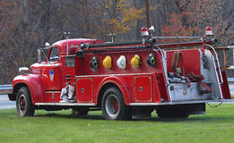 Vecchio camion dei vigili del fuoco Fotografia Stock Libera da Diritti