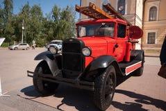 Vecchio camion dei vigili del fuoco Immagine Stock