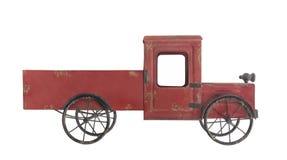 Vecchio camion del giocattolo del metallo isolato Immagine Stock