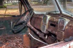 Vecchio camion interno fotografia stock libera da diritti