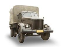 Vecchio camion isolato su bianco Immagini Stock Libere da Diritti