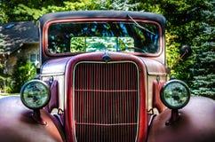 Vecchio camion rosso Fotografie Stock Libere da Diritti