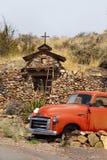 Vecchio camioncino scoperto, Santa Fe, nanometro, S.U.A. Immagini Stock