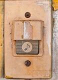Vecchio campanello per porte immagine stock
