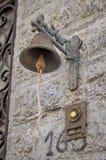Vecchio campanello per porte Fotografie Stock