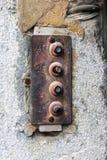 Vecchio campanello per porte arrugginito Immagini Stock Libere da Diritti