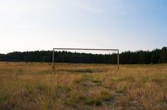 Vecchio campo da giuoco abbandonato Immagine Stock