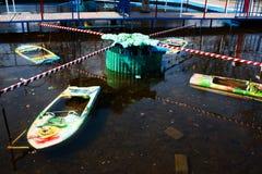Vecchio campo da giuoco delle barche Fotografie Stock