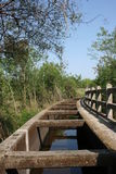 Vecchio canale concreto Fotografia Stock Libera da Diritti