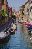 Vecchio canale di Venezia Immagine Stock Libera da Diritti