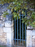 Vecchio cancello blu Immagine Stock Libera da Diritti