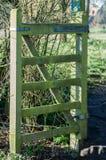 Vecchio cancello di legno Immagini Stock